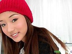 Asian petite face cum