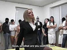 Curvy MILF Marriage With Gangbang