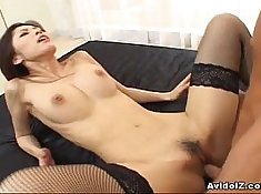 Cock Asian babe Joanna gets fucked hard in the ass