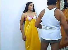 Amateur indian couple having sex at home