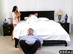 Sexy big tits slut fucking her cheating husband