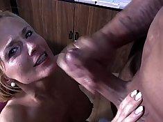 PC MILF gym secretary playing with big cock