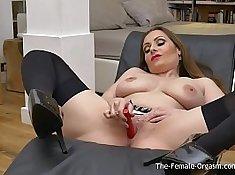 Brunette MILF Solo Masturbation Orgasm