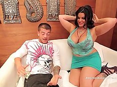 Big titted Angelina Castro sucks a dick