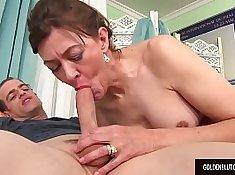 Naughty guy bangs his babes wet crack