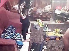 Spy cam caught the couple having fun