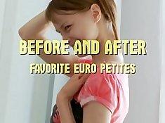 Beautiful Euro petite teen Paige deep throating a knob
