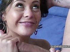 Teen FFM Slut Gets Fucked Hard by Boyfriend