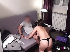 Sex addicted french teacher kissing