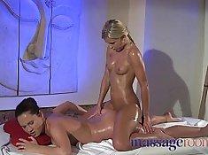 Lesbians Orgasms before Airtight Massage