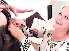 chubby blond girl gives POV blowjob with inch dick in her mouth I always knew its