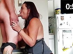 British slut Sarah gives a nice blowjob