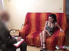 Naughty doctor swallows after exam