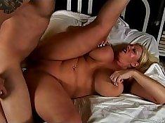 Blondes with big tits get huge facial cumshot